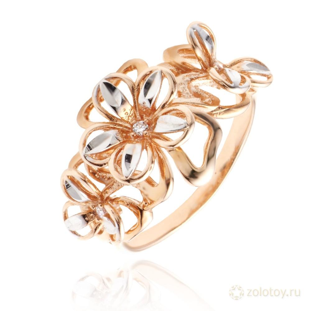 Ювелирное украшение найдено на special4me - кольцо из золота со вставкой из фианита, вес изделия - 124 грамм
